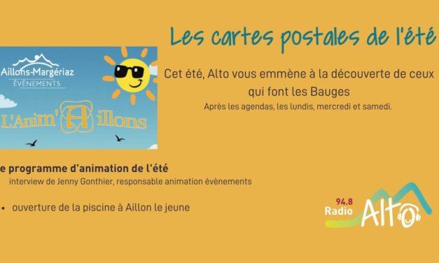 Les cartes postales de l'été – des infos sur la piscine des Aillons
