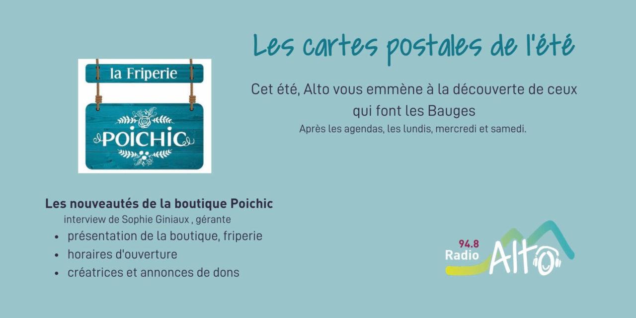 Les cartes postales de l'été – Sophie Giniaux reprend la gérance de Poichic
