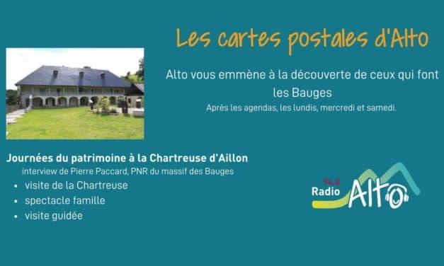Les cartes postales d'Alto – journées du patrimoine à la Chartreuse d'Aillon