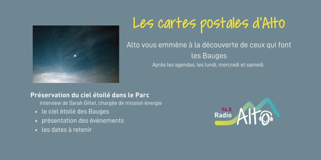 Les cartes postales d'Alto – préservation du ciel étoilé dans le PNR du massif des Bauges