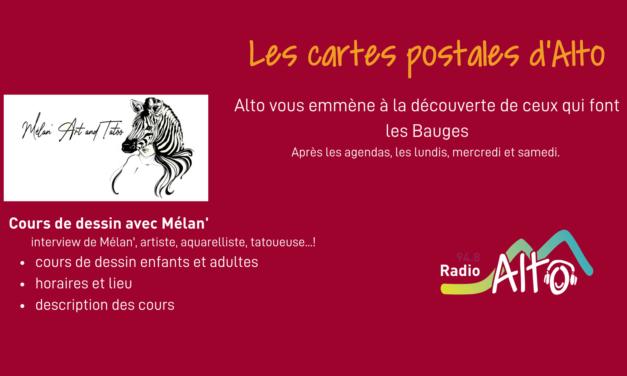 Les cartes postales d'Alto – cours de dessin avec Mélan'