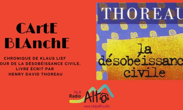 Carte Blanche – Klaus Lief, désobéissance civile