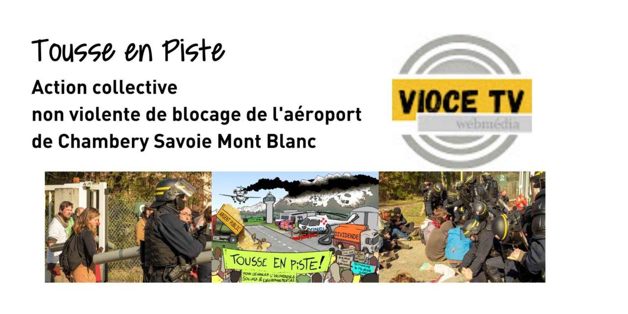"""""""Tousse en Piste"""" bloque l'aéroport Chambéry Savoie Mt-Blanc"""