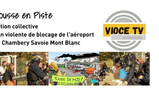 «Tousse en Piste» bloque l'aéroport Chambéry Savoie Mt-Blanc