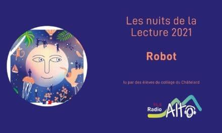 Robot- Nuits de la lecture 2021