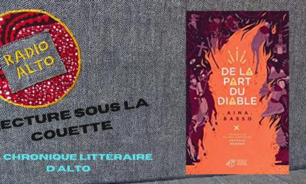 De la part du diable, Aina Basso – Lectures sous la couette #132