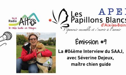 Séverine Dejeux, Maître chien guide, réalisée par les résidents du SAAJ d'Aix-les-Bains – Coton Tige FM
