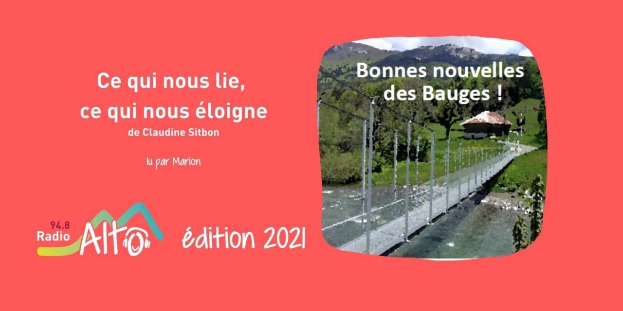 Ce qui nous lie, ce qui nous éloigne de Claudine Sitbon lu par Marion