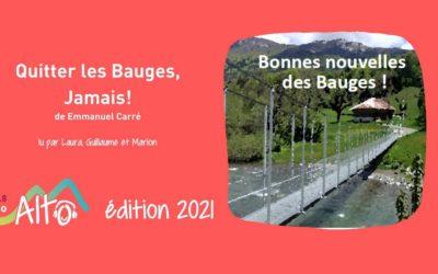 «Quitter les Bauges, jamais!» de Emmanuel Carré lu par Laura, Guillaume et Marion