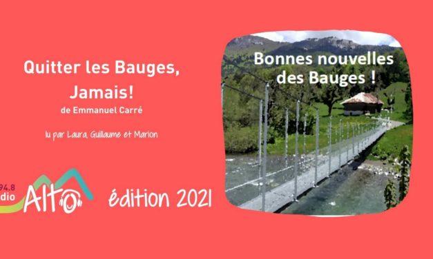 """""""Quitter les Bauges, jamais!"""" de Emmanuel Carré lu par Laura, Guillaume et Marion"""